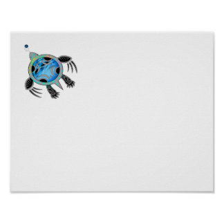 Painted Sea Turtle Poster