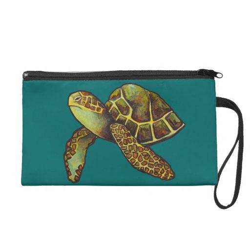 Painted Sea Turtle Wristlet