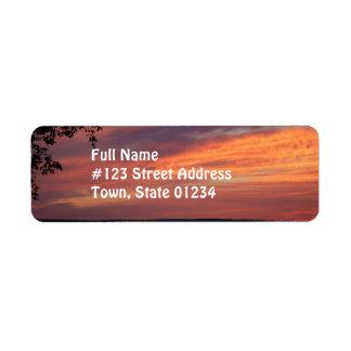Painted Skies Return Address Label