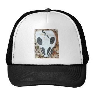 painted skull trucker hat