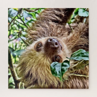 painted Sloth Jigsaw Puzzle