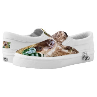 painted Sloth Slip-On Shoes