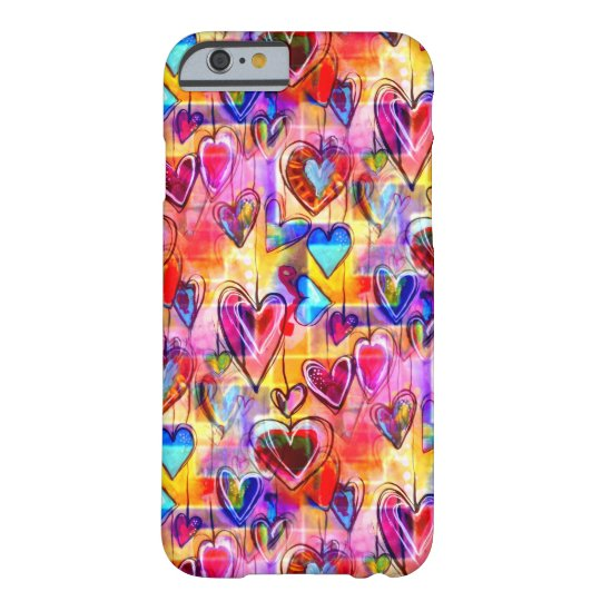 Painted Spring Hearts Barely There iPhone 6 Case