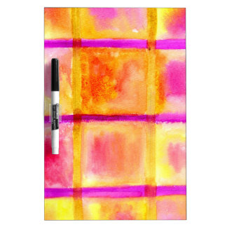Painted Squares Art3 Dry Erase Board