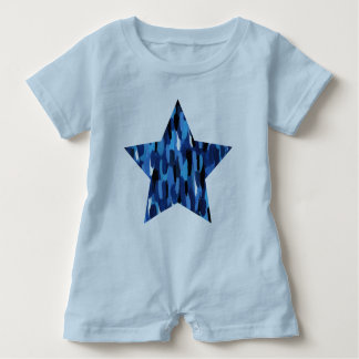 Painted Star Baby Bodysuit
