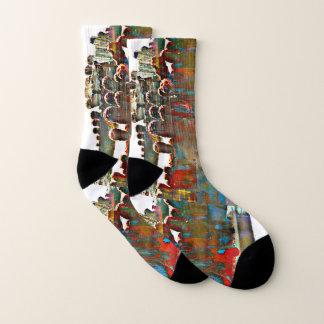 Painted Stove Pipe Cactus Socks 1