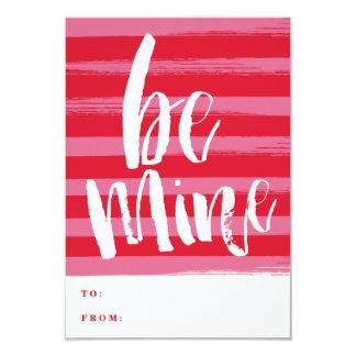 Painted stripe classroom valentine day card 9 cm x 13 cm invitation card