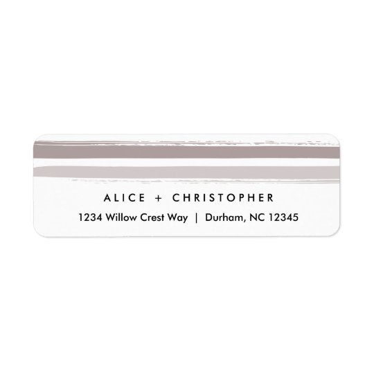 Painted stripes | Return address labels