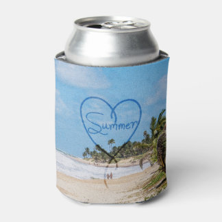 "Painted ""Summer"" Heart Typography Beach Scene"