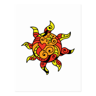 PAINTED SUN POSTCARD