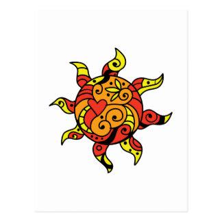 PAINTED SUN POSTCARD