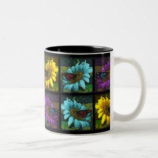 'Painted Sunflowers 2' Two-Tone Coffee Mug