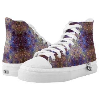 painted swirls high top shoes printed shoes