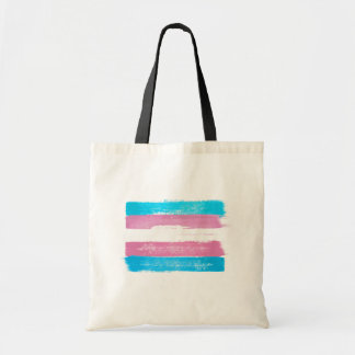 PAINTED TRANS PRIDE FLAG - -
