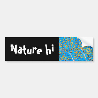 painted trees car bumper sticker