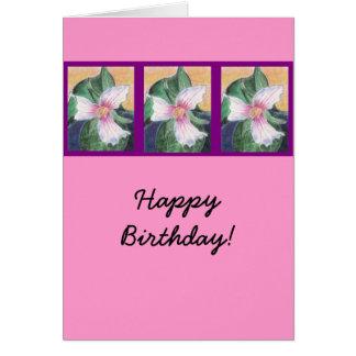 Painted Trillium! Card