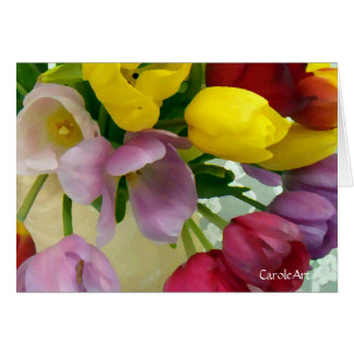 """""""Painted Tulips Bouquet"""" Card"""