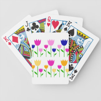 Painted Tulips summer Collection Bicycle Playing Cards