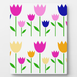 Painted Tulips summer Collection Display Plaque