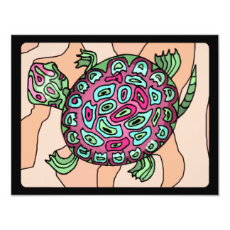 Painted Turtle 11 Cm X 14 Cm Invitation Card