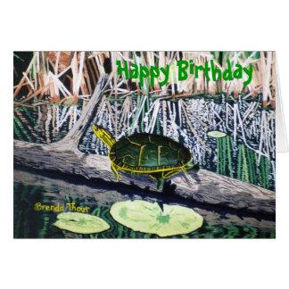 Painted Turtle Birthday Card