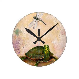 Painted Turtle Wall Clocks