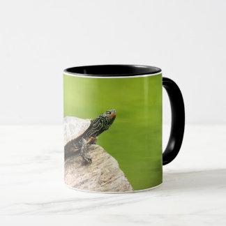 Painted Turtle on a log Mug