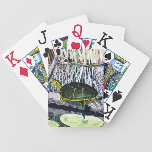 Painted Turtle Playing Cards
