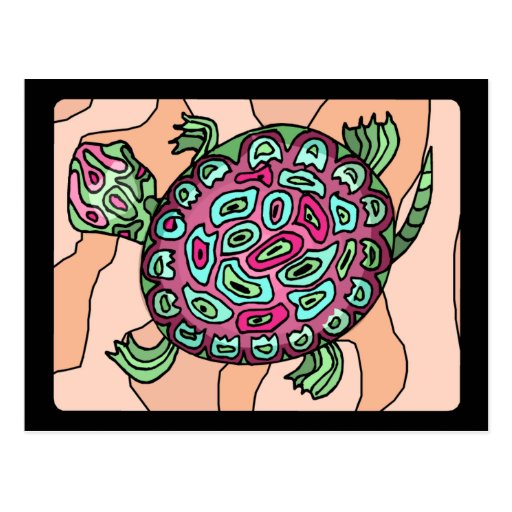 Painted Turtle Post Cards