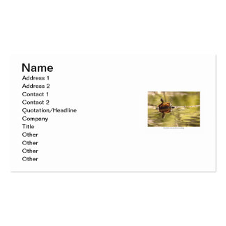 Painted Turtle with Attitude Business Card Template