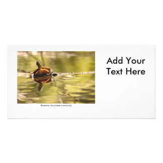 Painted Turtle with Attitude Personalized Photo Card