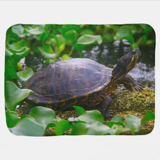 Painted Turtle Receiving Blanket
