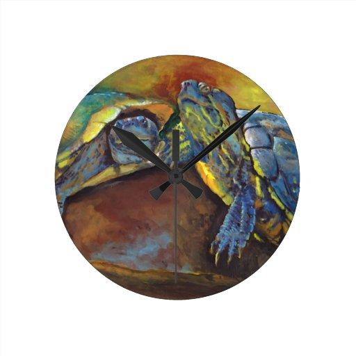 Painted Turtles Wallclock