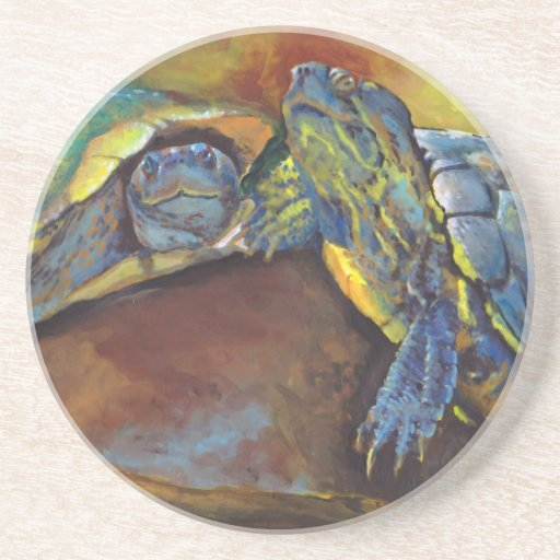 Painted Turtles Drink Coasters