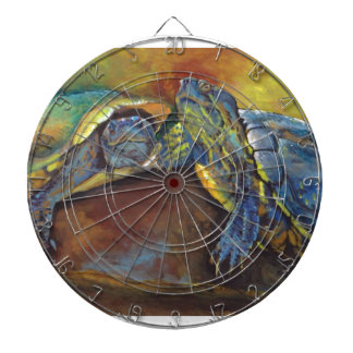 Painted Turtles Dartboard With Darts