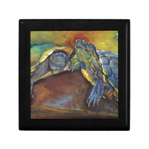 Painted Turtles Jewelry Box