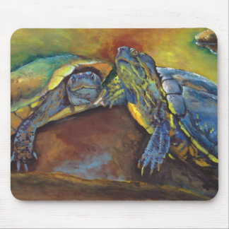 Painted Turtles Mouse Pad