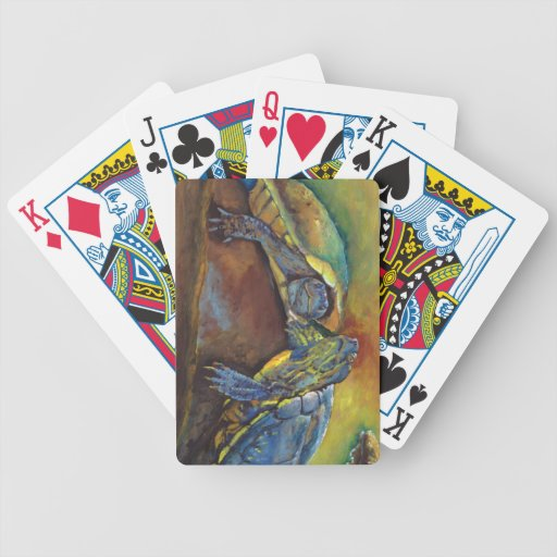 Painted Turtles Bicycle Card Decks