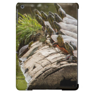 Painted Turtles Sunning Themselves In A Pond iPad Air Covers