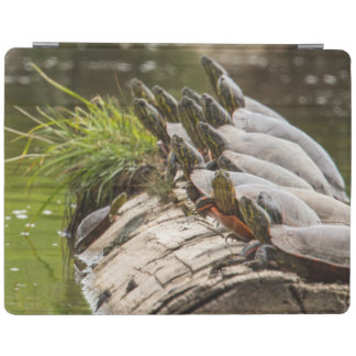 Painted Turtles Sunning Themselves In A Pond iPad Cover