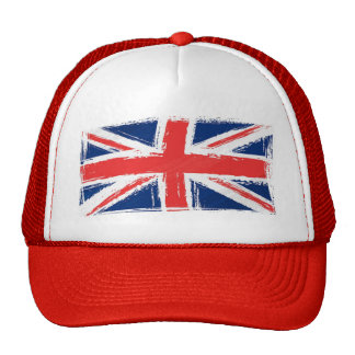 Painted Union Jack Truckers Hat