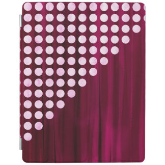 Painted Velvet Polka dot Pattern iPad Cover