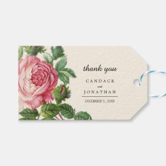 Painted Vintage Rose Boho Wedding Gift Tags