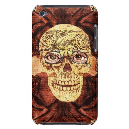 painted vintage sugar skull - I am  watching you iPod Case-Mate Cases