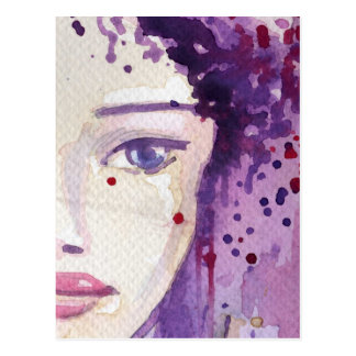 Painted Watercolor Background Postcard