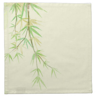 Painted watercolor card with wild stylized napkin