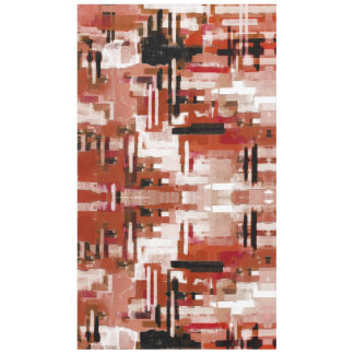 Painted Weave - Red Tablecloth