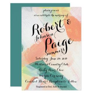 Painted Wedding Invitation
