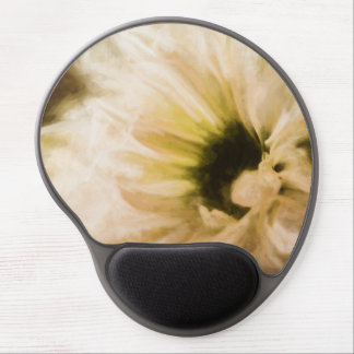 Painted White Daisy Mouse Pad