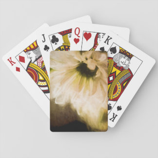 Painted White Daisy Playing Cards